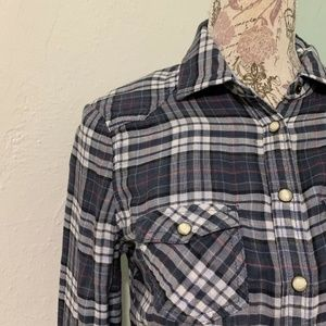 American Eagle Outfitters Blue Plaid Shirt 6